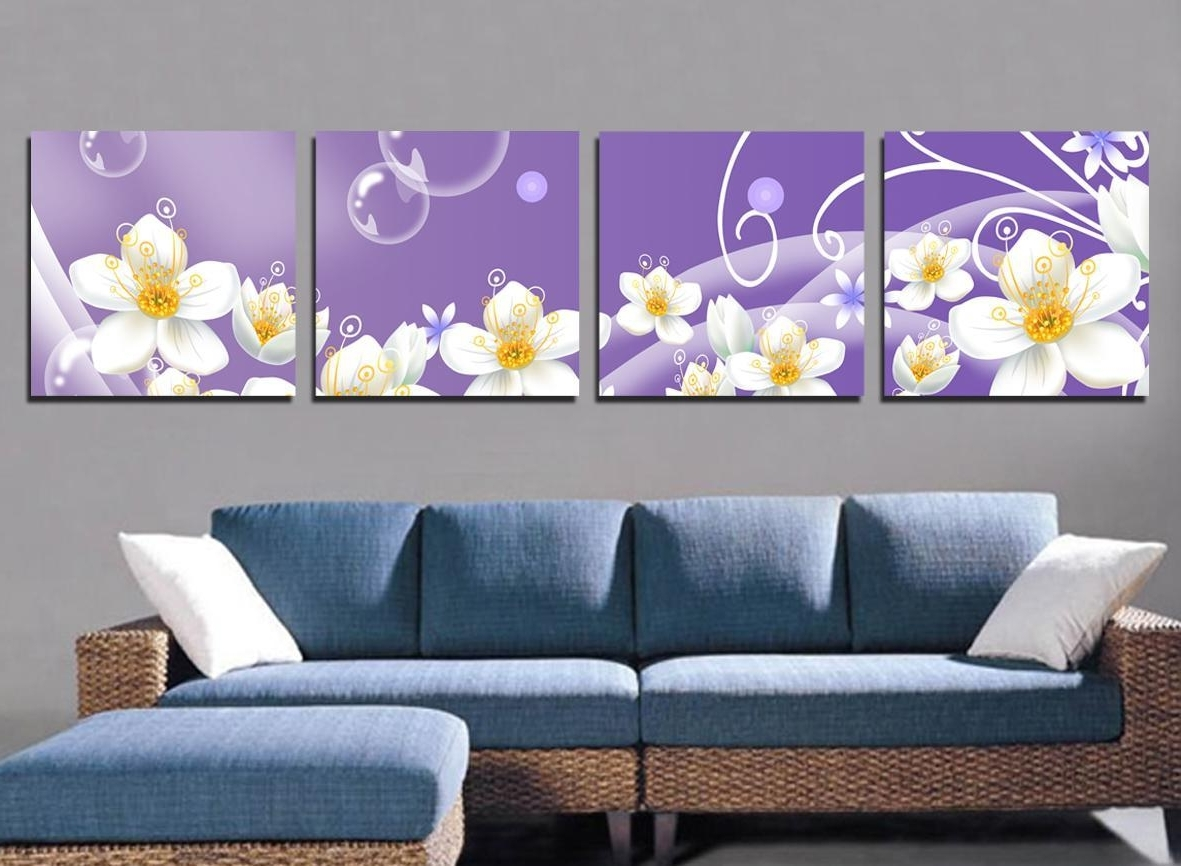 Living Room. Art Canvas And Print As Living Room Decor: White With Fashionable Large Print Fabric Wall Art (Gallery 9 of 15)
