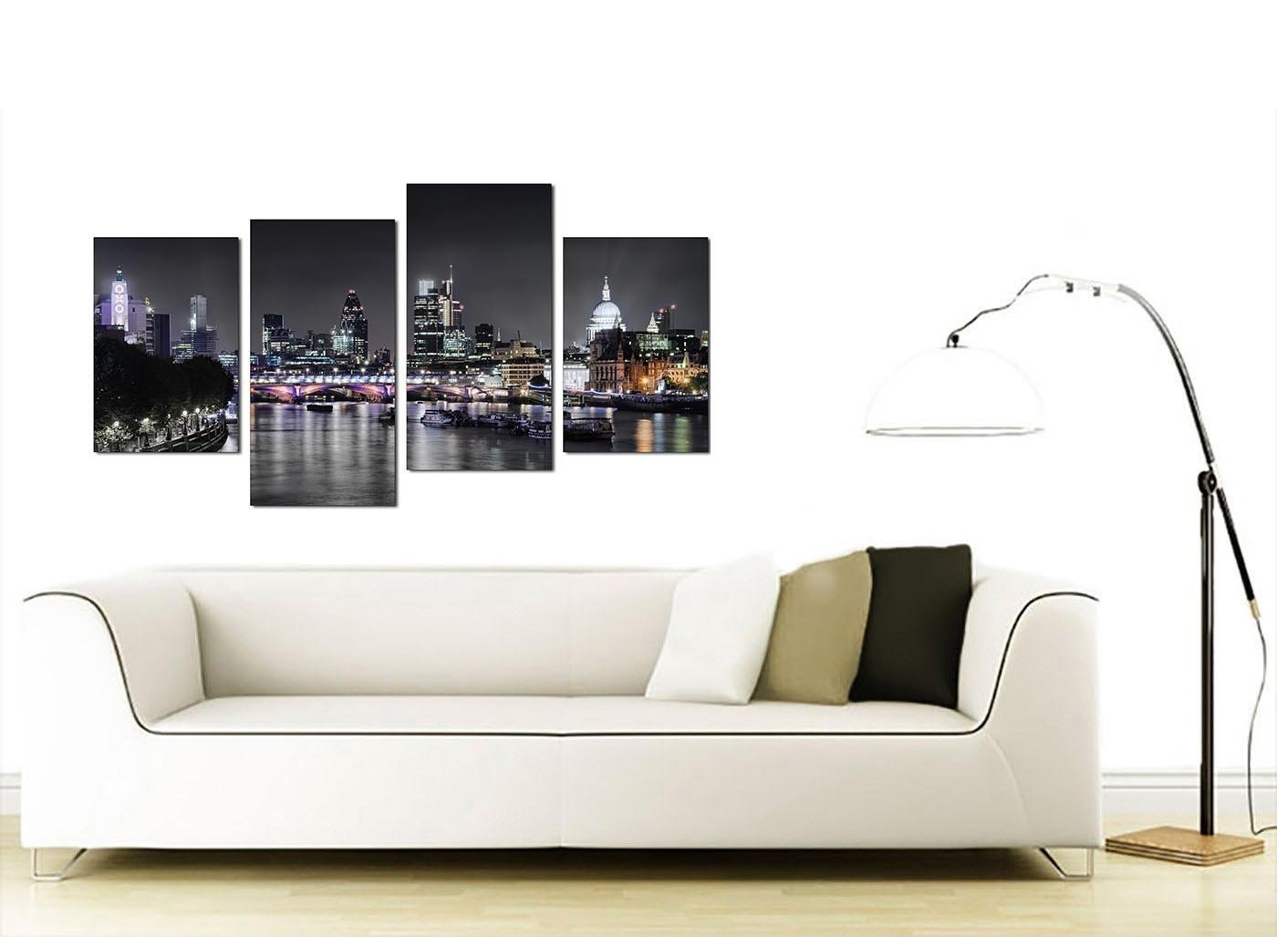 Living Room Canvas Wall Art With Current Amazon: Wallfillers Canvas Wall Art Of London Skyline For Your (View 8 of 15)