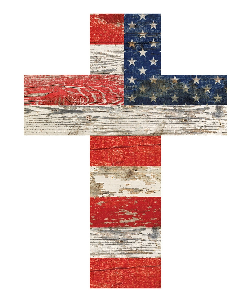 Look What I Found On #zulily! Small American Flag Cross Wall Art Throughout Most Current American Flag Fabric Wall Art (View 9 of 15)