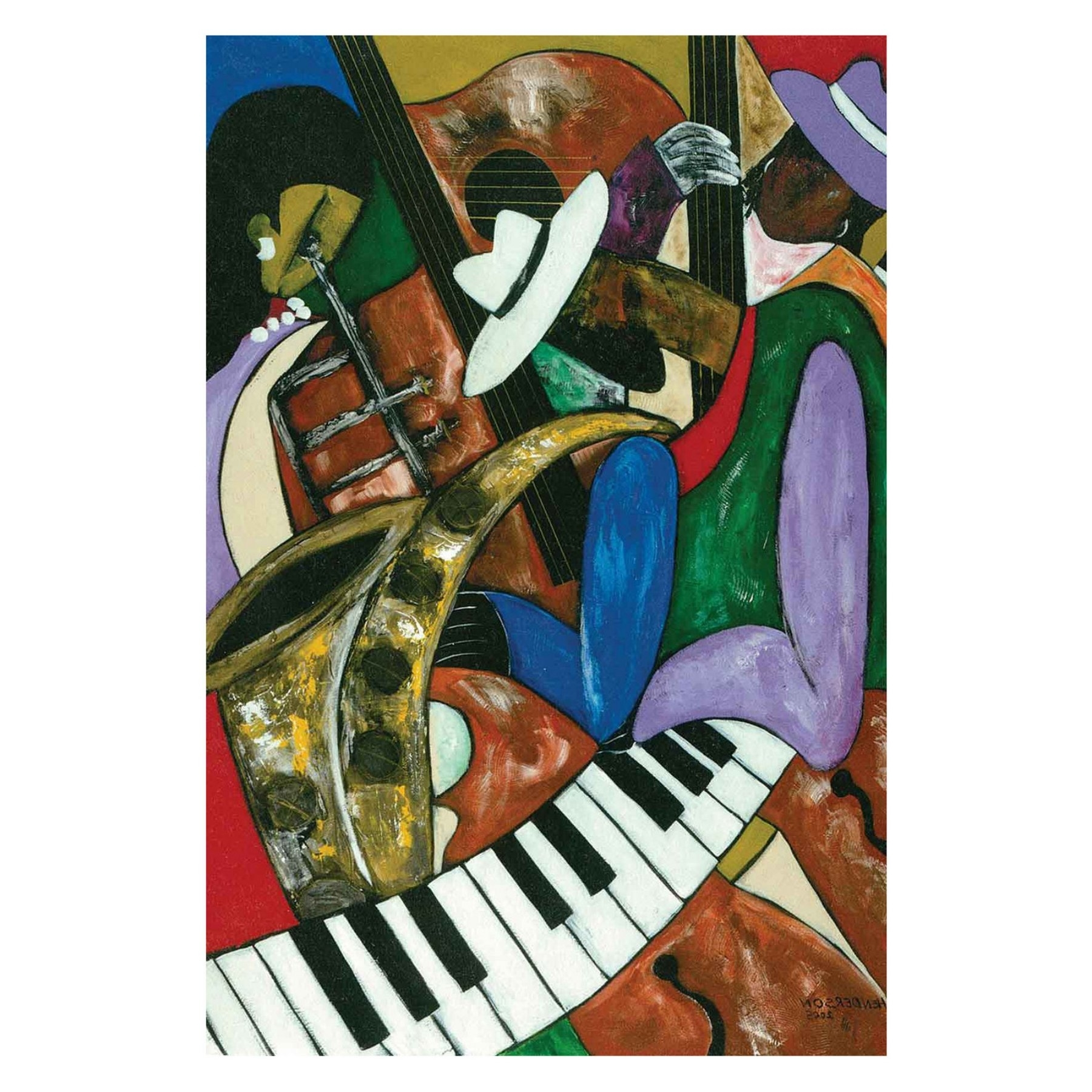 Louis Leonard Art Jazz Composerskelvin Henderson Canvas Wall Intended For Most Recently Released Jazz Canvas Wall Art (View 9 of 15)