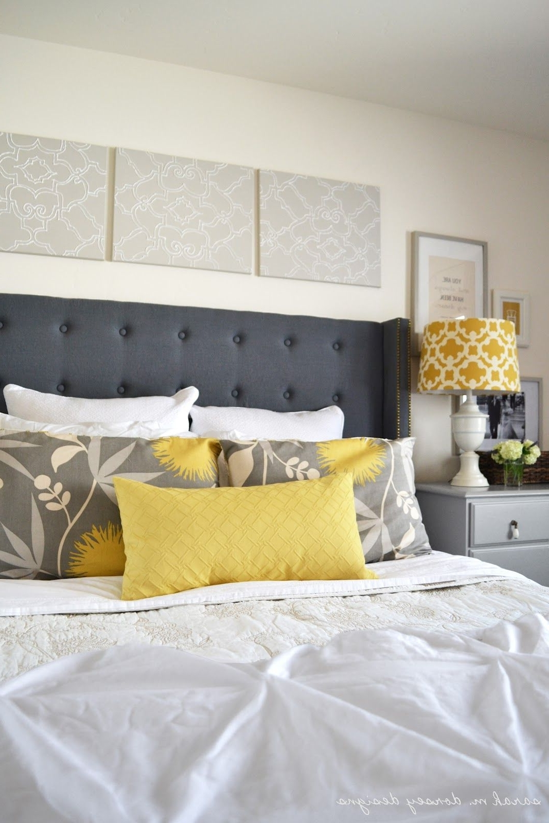 Love The Canvas Art Above The Bedpainted, Then (View 8 of 15)
