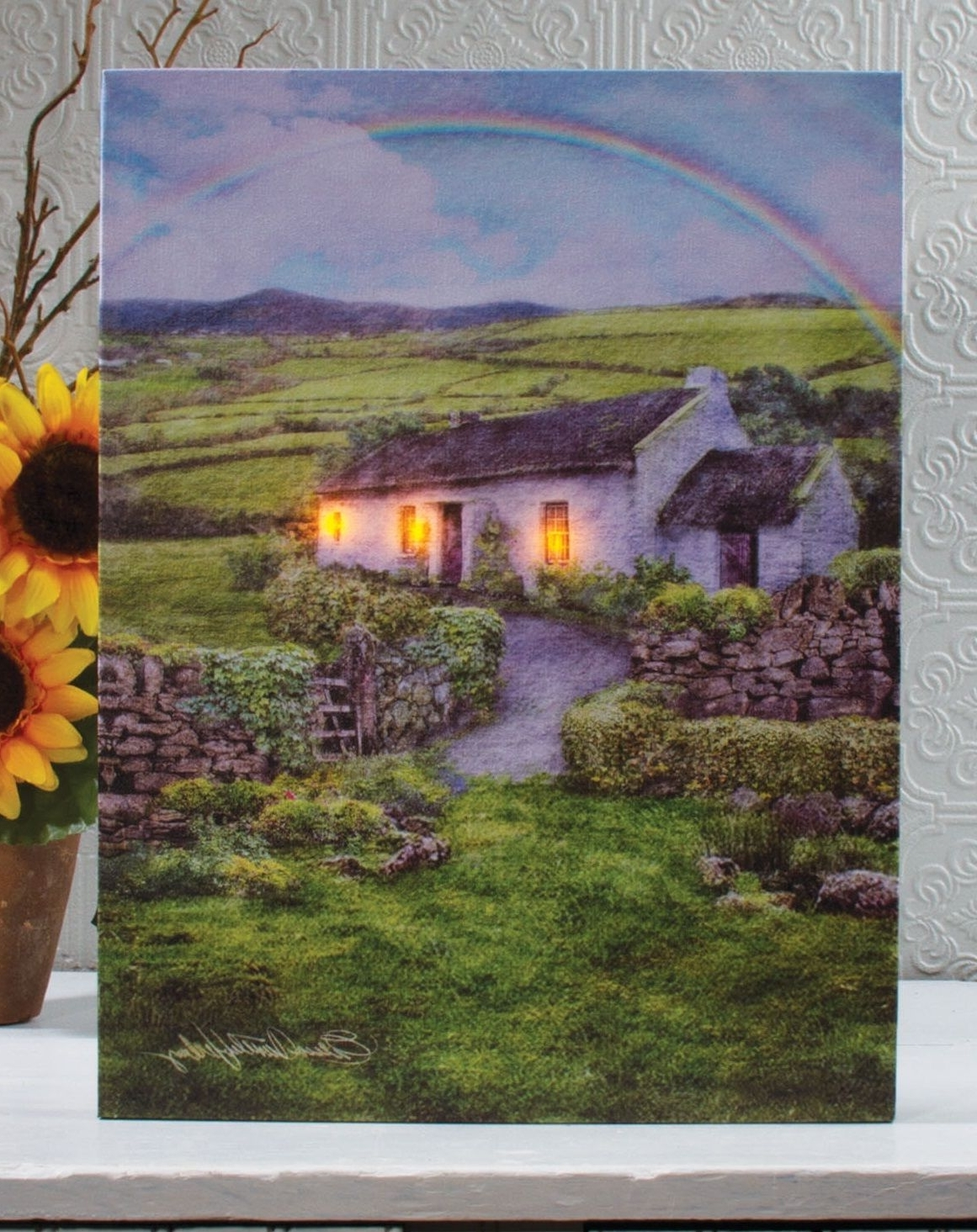Love This St Patrick's Day Decor~Lighted Irish Farm Cottage Wall With Best And Newest Ireland Canvas Wall Art (Gallery 9 of 15)
