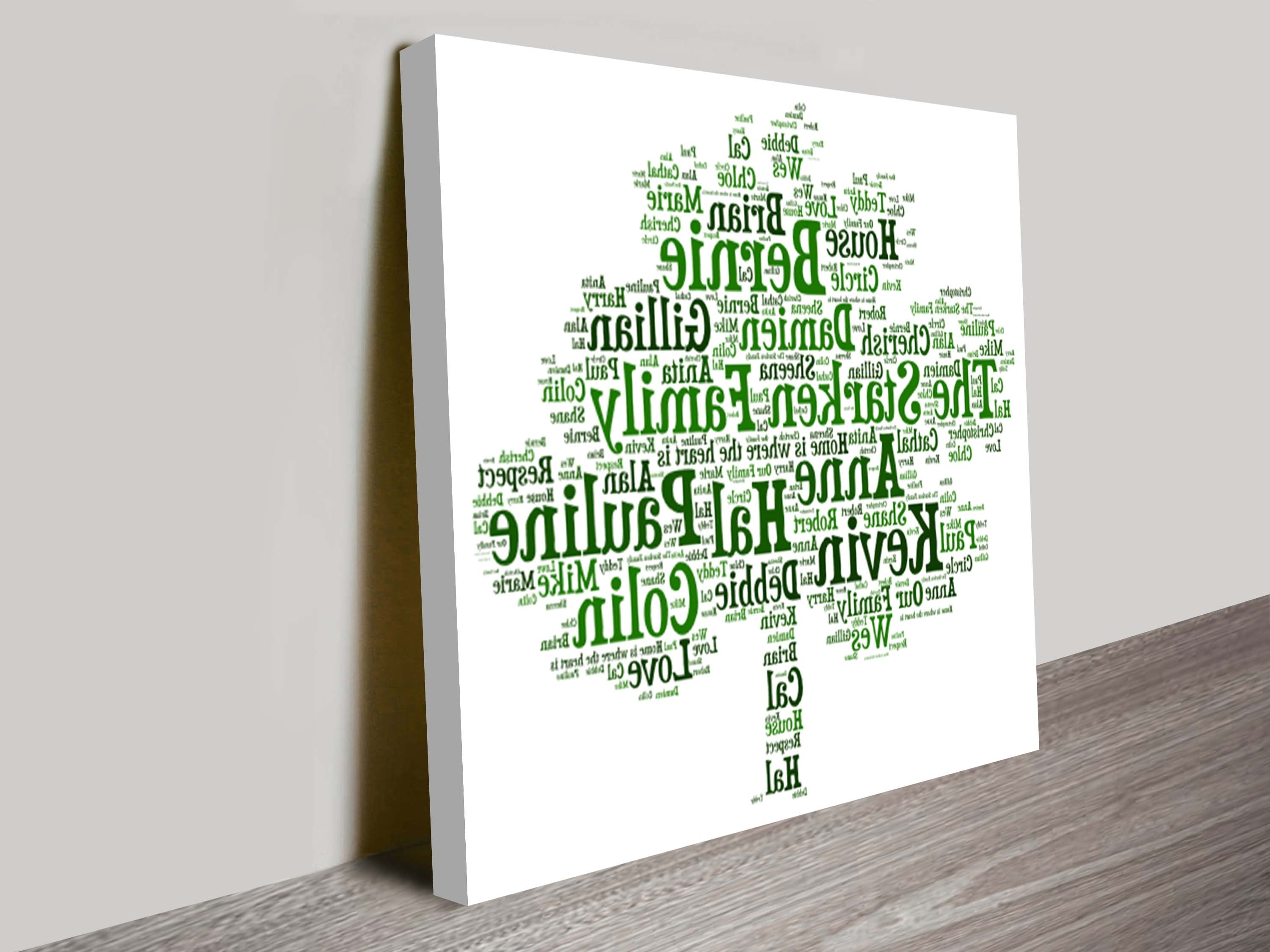 Mandurah Canvas Wall Art Pertaining To Well Liked Personalised Word Art (View 9 of 15)