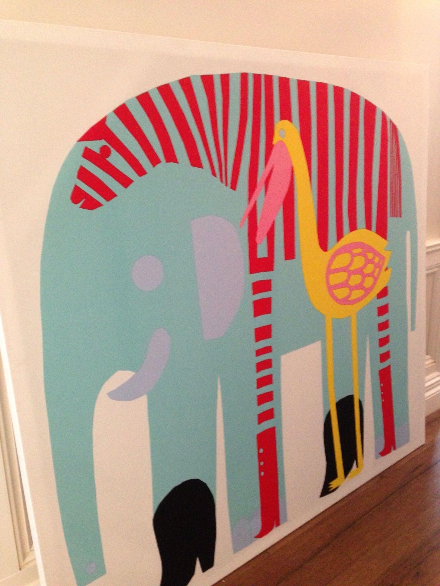 Marimekko Elephant Print For The Kids' Room (View 4 of 15)