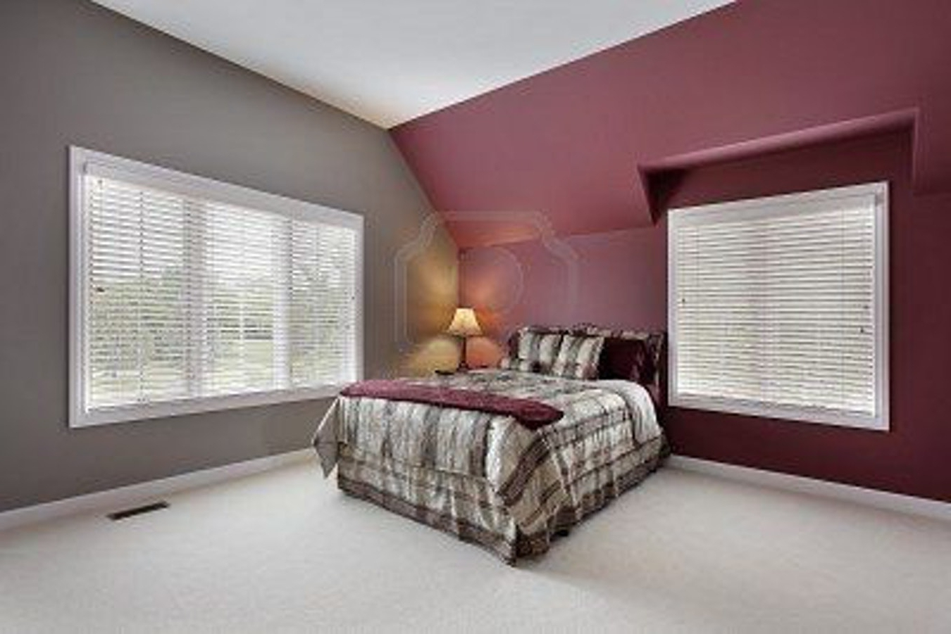 Maroon Wall Accents Regarding Best And Newest Burgundy And Grey Bedroom Maroon Walls Pink Entertaining Depiction (View 7 of 15)