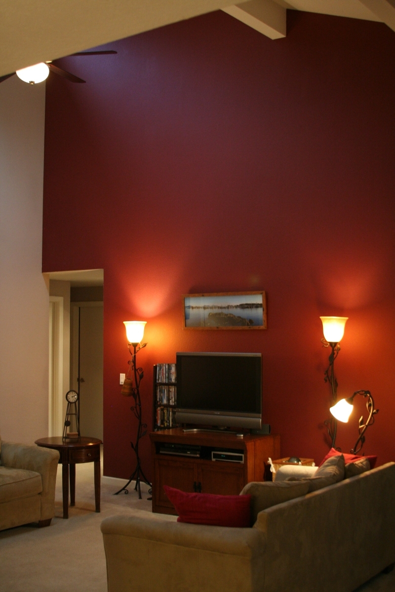 Maroon Wall Accents Regarding Well Liked Figuring Out If A Burgundy Accent Wall On Cathedral Ceiling Works (View 8 of 15)