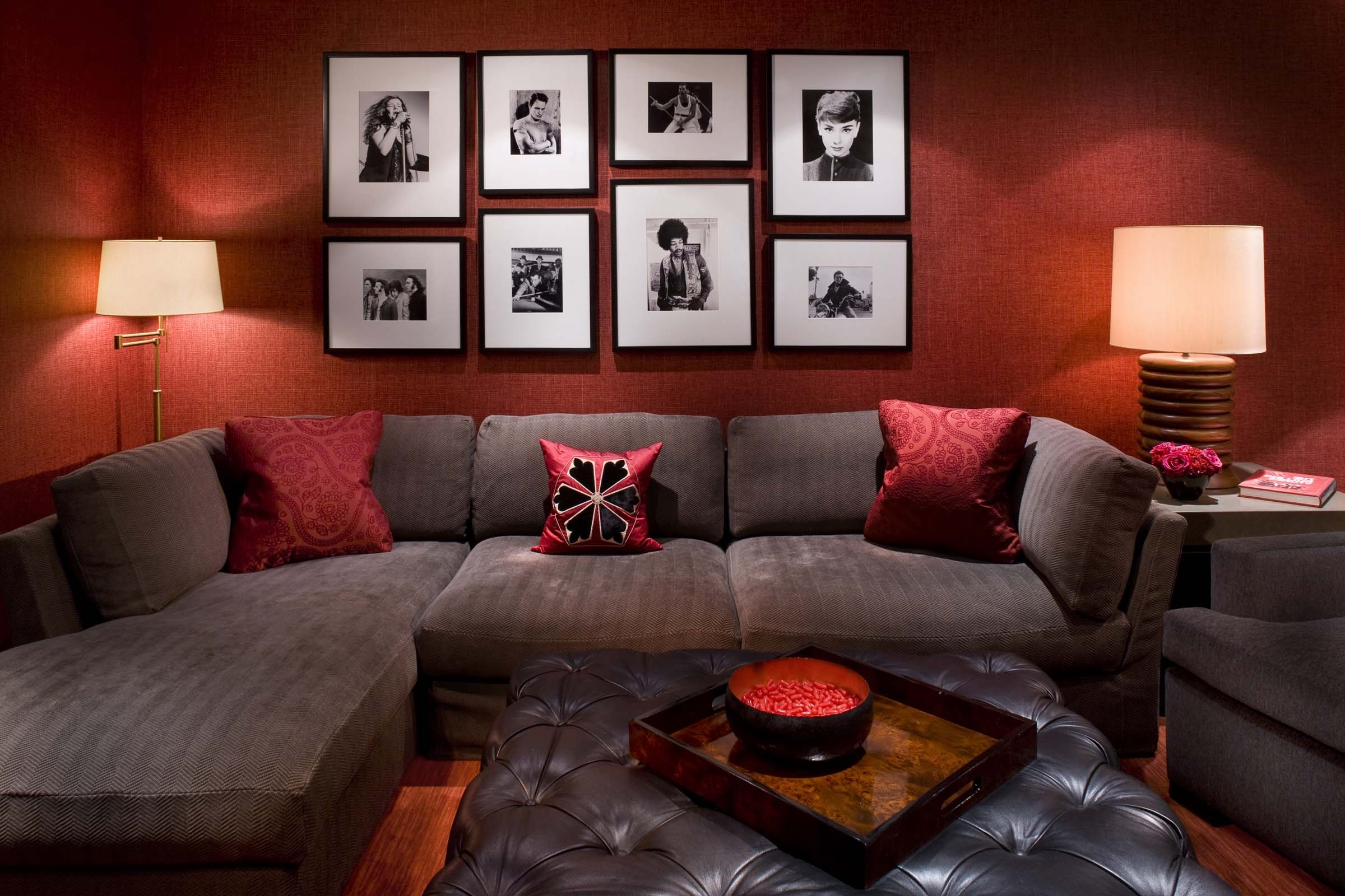 Maroon Wall Accents Throughout Most Up To Date Images Of Red Wall Decor For Living Rooms Home Design Ideas Room (View 9 of 15)