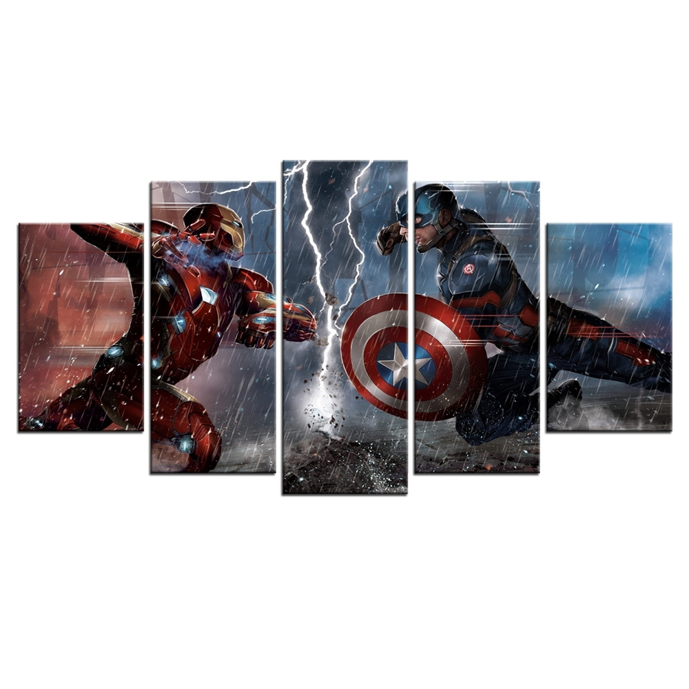 Marvel's The Avengers Sci Fi Movies Poster Hd Printed Canvas Wall Regarding Best And Newest Movies Canvas Wall Art (View 3 of 15)