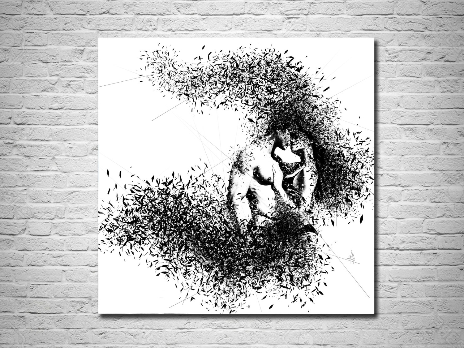 Masters Canvas Wall Art Pertaining To Most Up To Date Elegant Minimalist Abstract Couple Art Canvas Print, Modern Sexy (View 9 of 15)