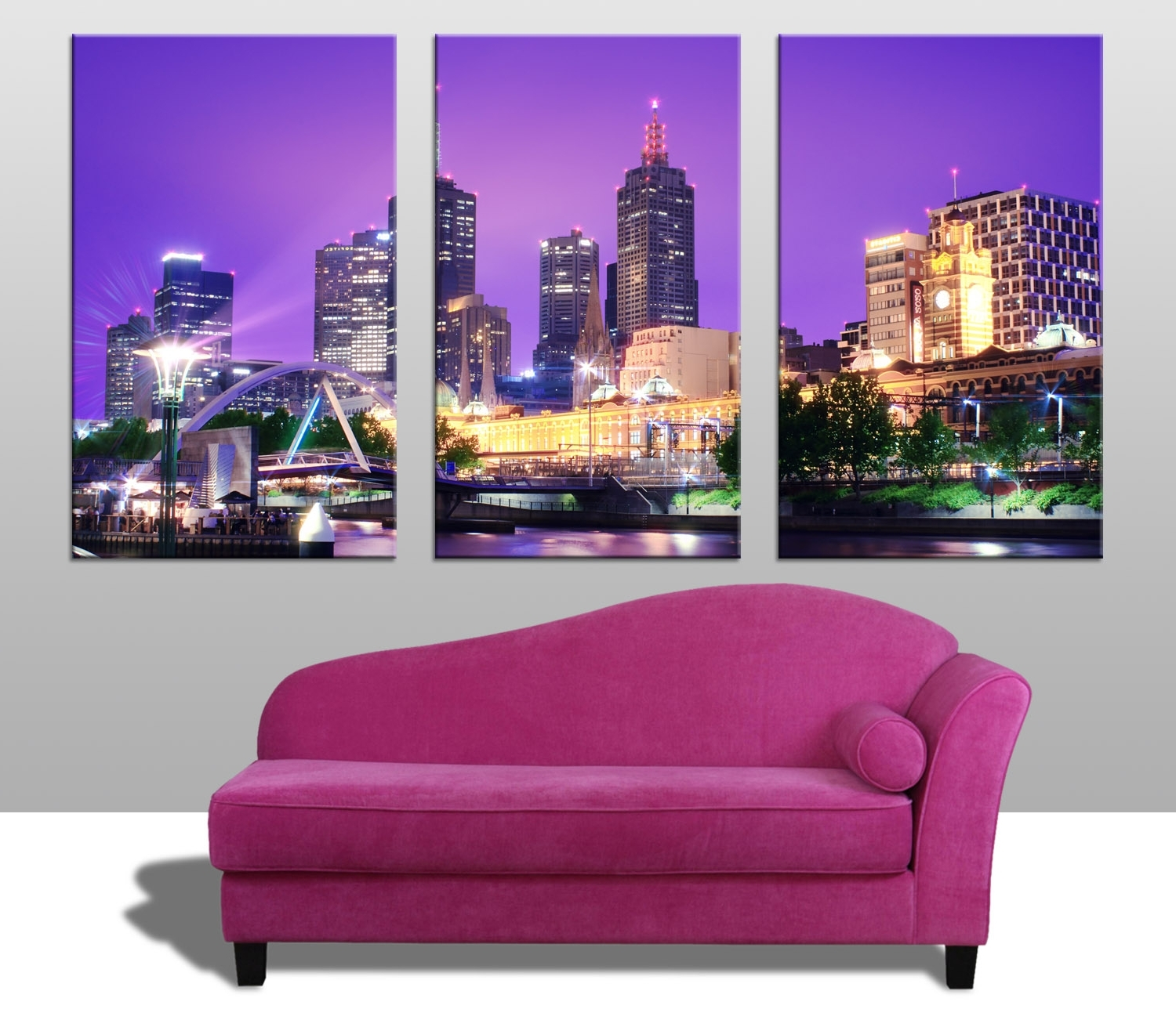 Melbourne Triptych Wall Art Prints Australia Regarding Trendy Melbourne Canvas Wall Art (View 6 of 15)