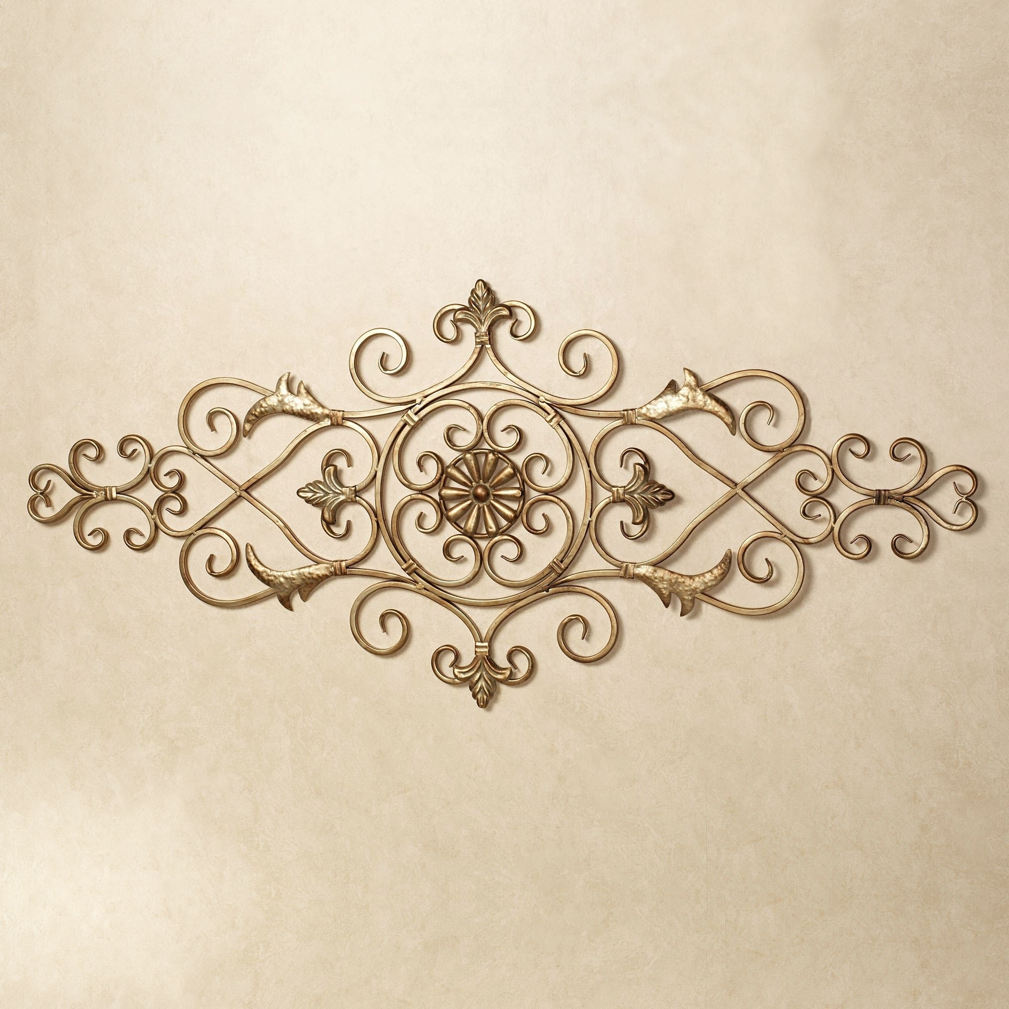 Merano Scrolling Metal Wall Grille Inside Favorite Gold Wall Accents (View 8 of 15)