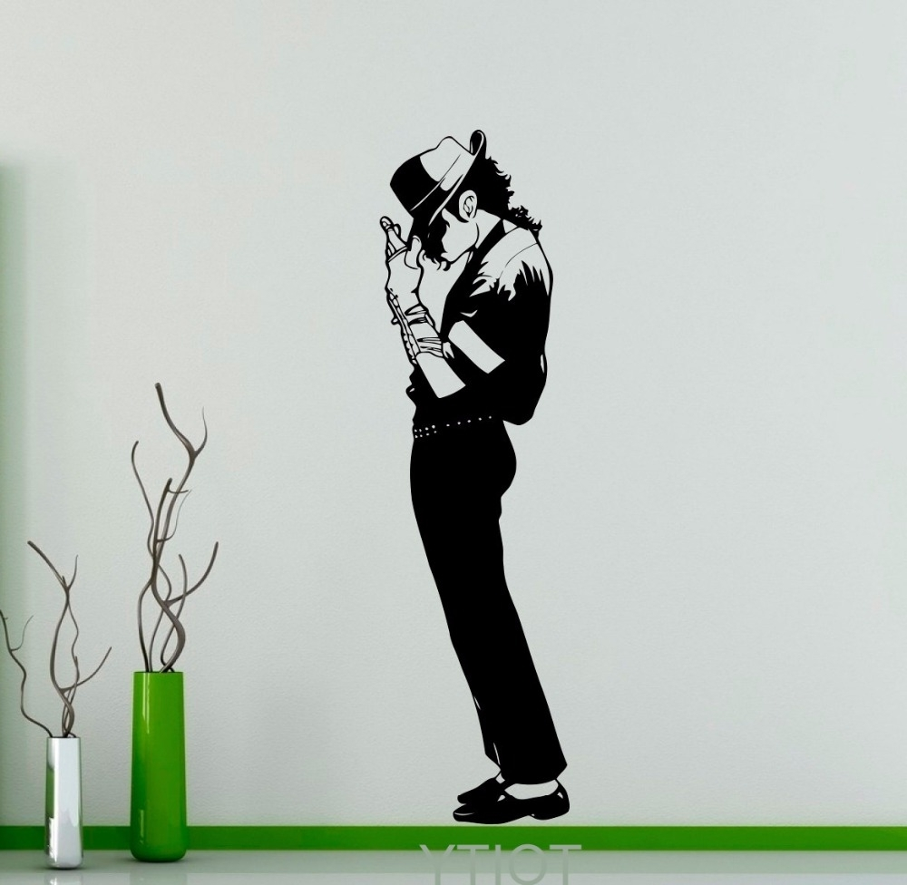 Michael Jackson Canvas Wall Art Intended For Well Known Online Shop Michael Jackson Wall Sticker King Of Pop Star Vinyl (View 9 of 15)