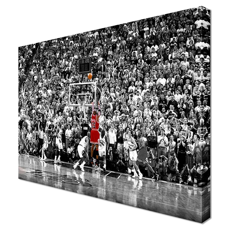 Michael Jordan Ba Basketball Last Shot – Canvas Print Sport Giant Intended For 2017 Michael Jordan Canvas Wall Art (View 6 of 15)