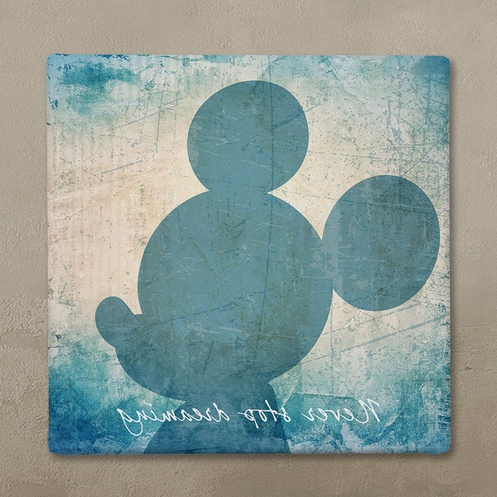 Mickey Mouse Canvas Wall Art In Trendy Disney Wall Art Canvas In Vintage Style, Disney Mickey Mouse (View 5 of 15)
