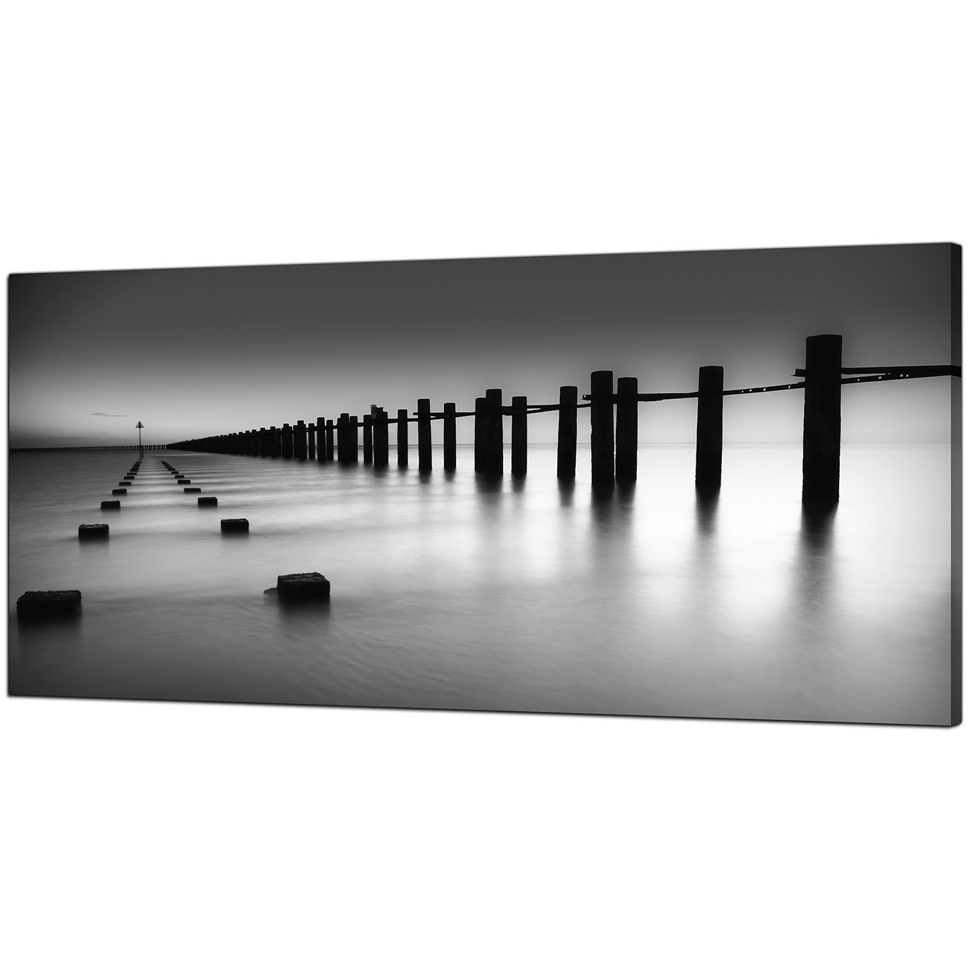 Modern Black And White Canvas Art Of The Sea Intended For Widely Used Black And White Photography Canvas Wall Art (View 12 of 15)