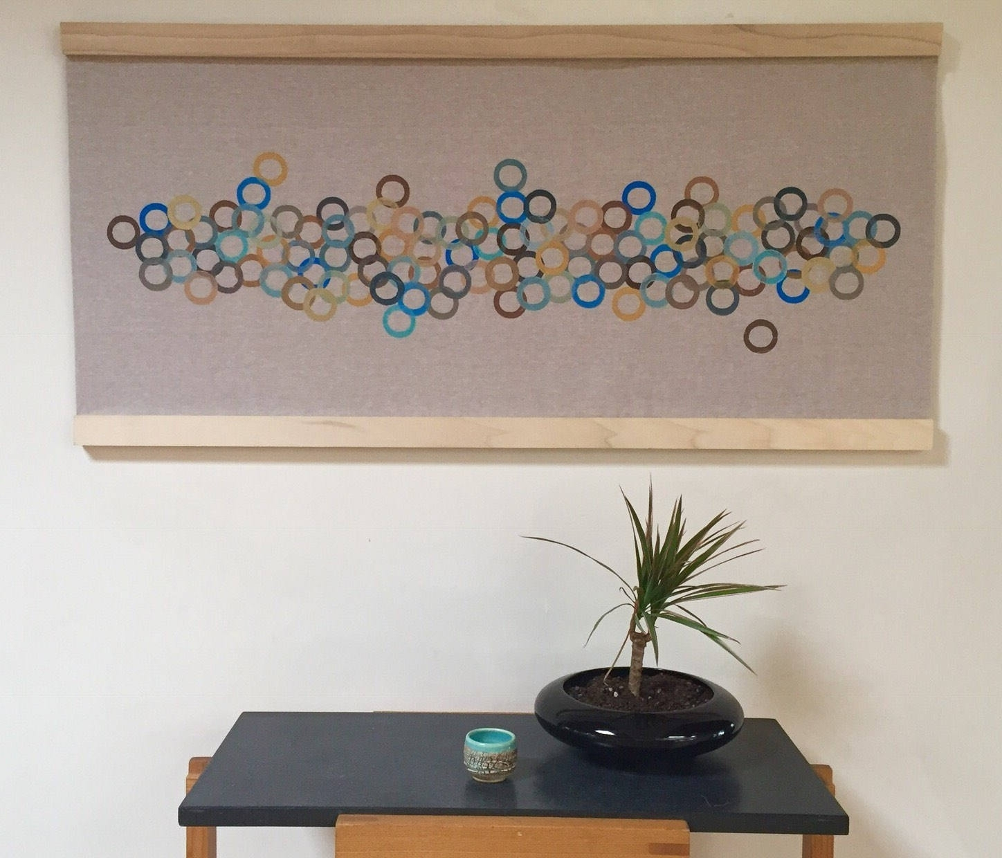 Modern Fabric Wall Art With Recent Modern Retro Wall Art Handmade Contemporary Block Printed Fabric (View 12 of 15)