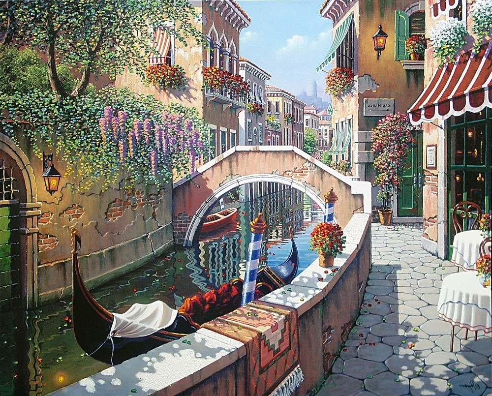 Modern Home Decoration Oil Painting Art Print On Canvas Home Regarding Most Recent Canvas Wall Art Of Italy (View 11 of 15)