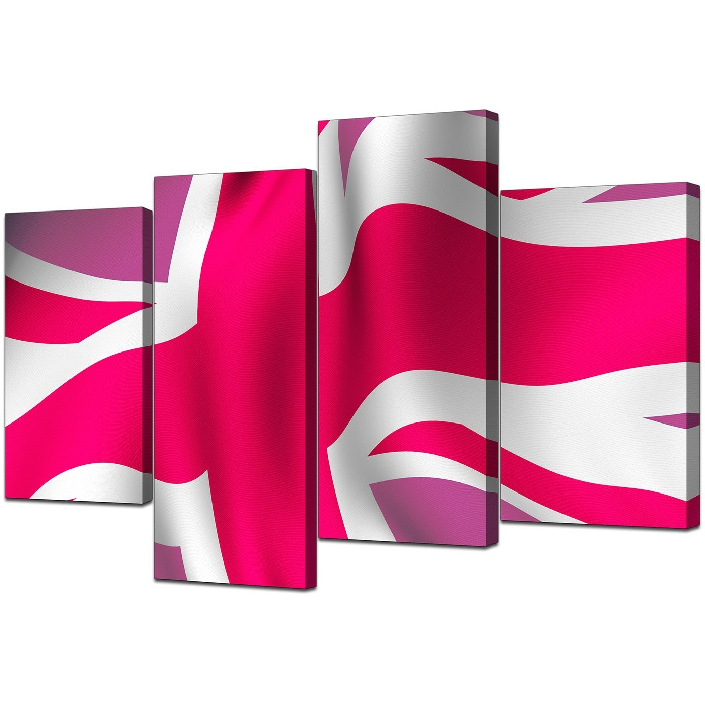 Modern Union Jack Canvas Prints In Pink – For Bedroom For Trendy Union Jack Canvas Wall Art (View 2 of 15)