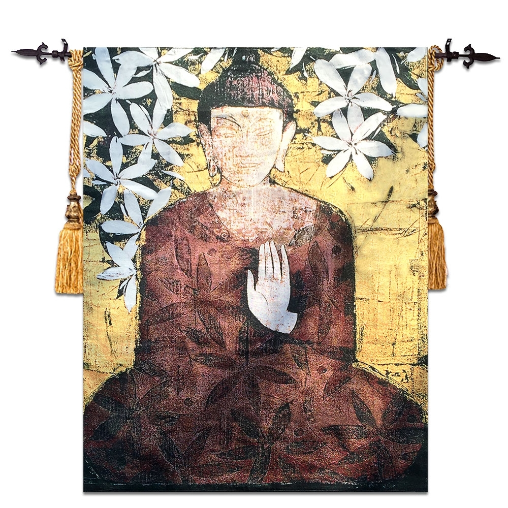 Moroccan Fabric Wall Art Intended For Most Recent Buy Buddha Wall Hangings And Get Free Shipping On Aliexpress (View 14 of 15)