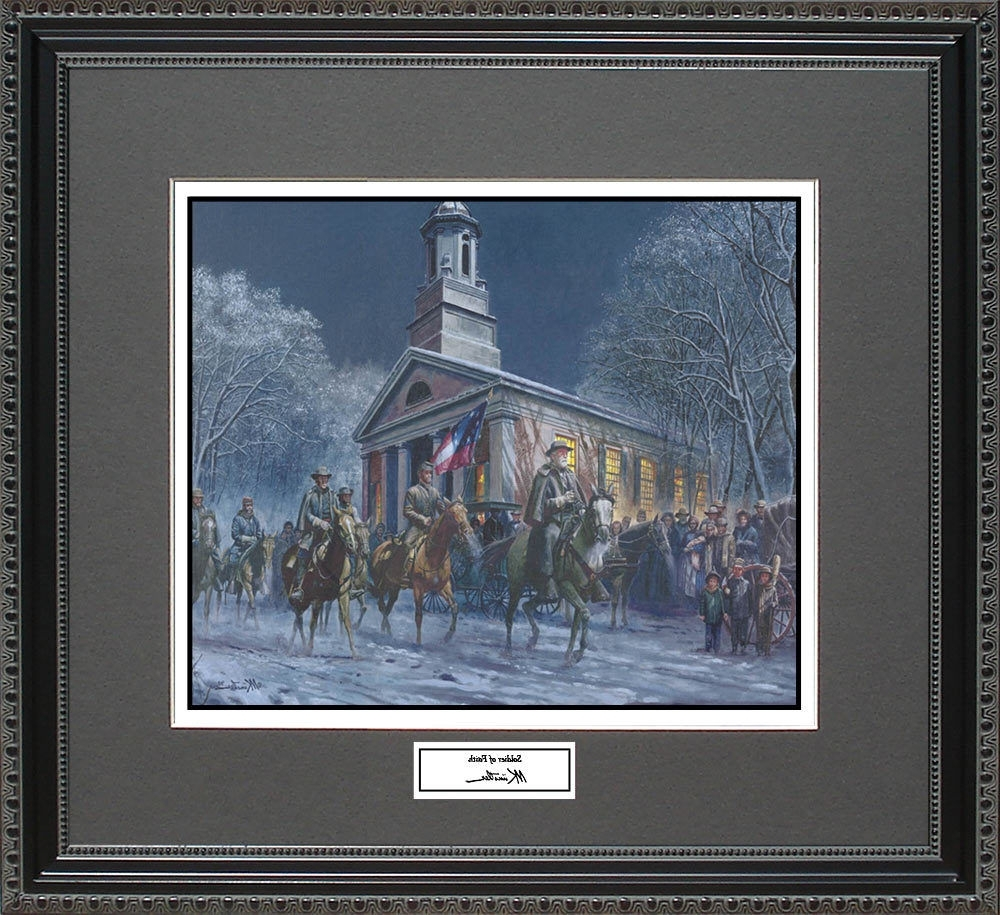 Mort Kunstler Soldier Of Faith Framed Print Civil War Wall Art With Regard To Preferred Confederate Framed Art Prints (View 5 of 15)