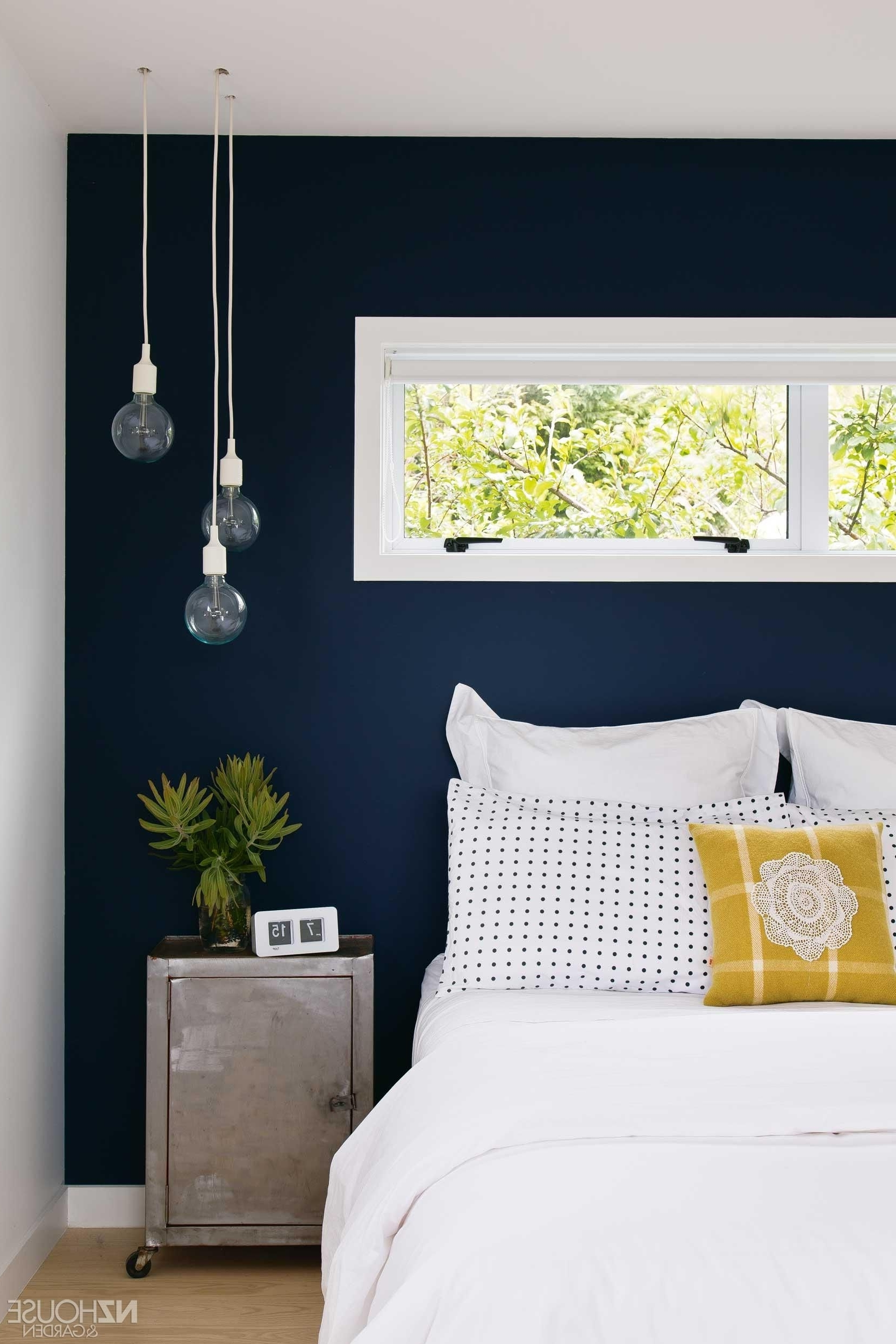 Most Current 20+ Accent Wall Ideas You'll Surely Wish To Try This At Home For Navy Wall Accents (View 6 of 15)