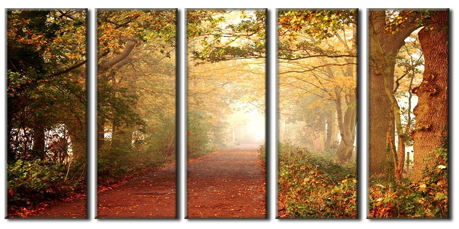 Most Current Amazon: Autumn Forest Canvas Prints, Forest Print On Canvas In Nature Canvas Wall Art (View 6 of 15)
