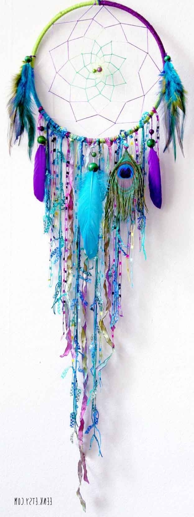Most Current Beautiful Diy Dreamcatcher Ideas For Keeping Nightmares Away Regarding Dreamcatcher Fabric Wall Art (View 7 of 15)
