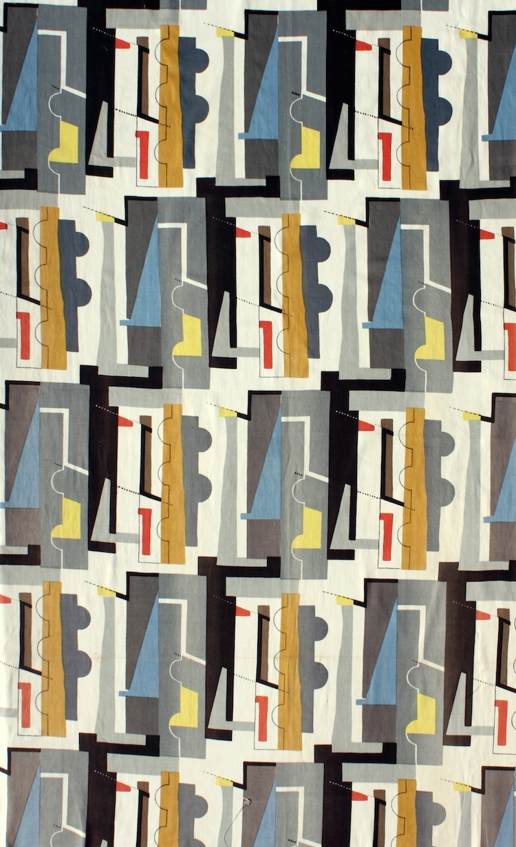 Most Current Curator's Choice: John Piper's Abstract Textile Design Throughout Mid Century Textile Wall Art (View 9 of 15)