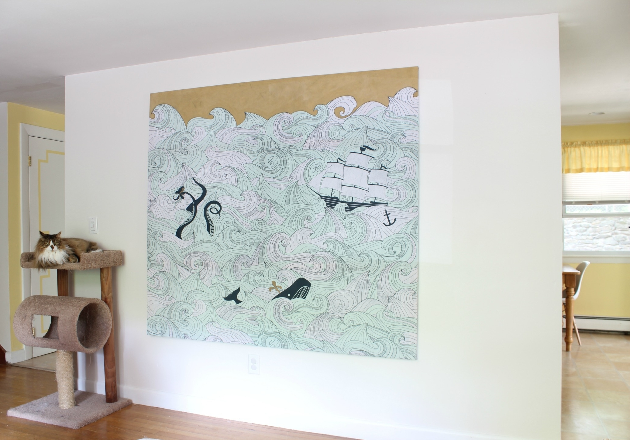 Most Current Diy Stretched Fabric Canvas (With A Shower Curtain!) (View 9 of 15)