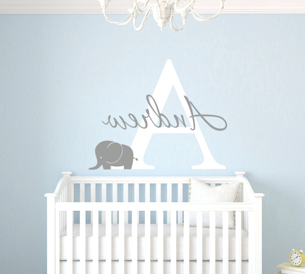 Most Current Fabric Name Wall Art In Wall Arts ~ Gallery Of Perfect Baby Name Wall Art Ideas 83 In 3D (View 11 of 15)