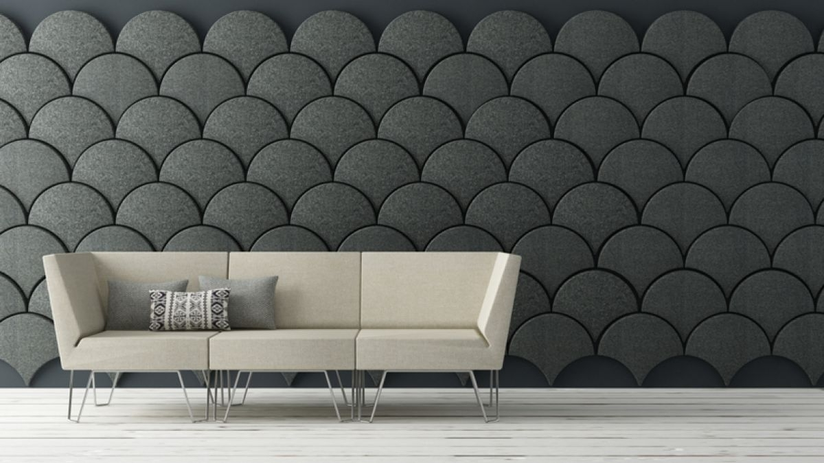 Most Current Fabric Panels For Wall Art In Interior: Breathtaking Living Room Decoration Using Black Scale (View 10 of 15)