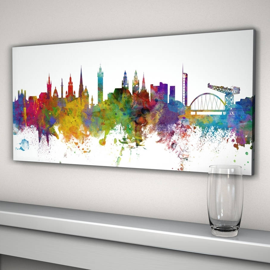 Most Current Glasgow City Skyline Print (View 14 of 15)