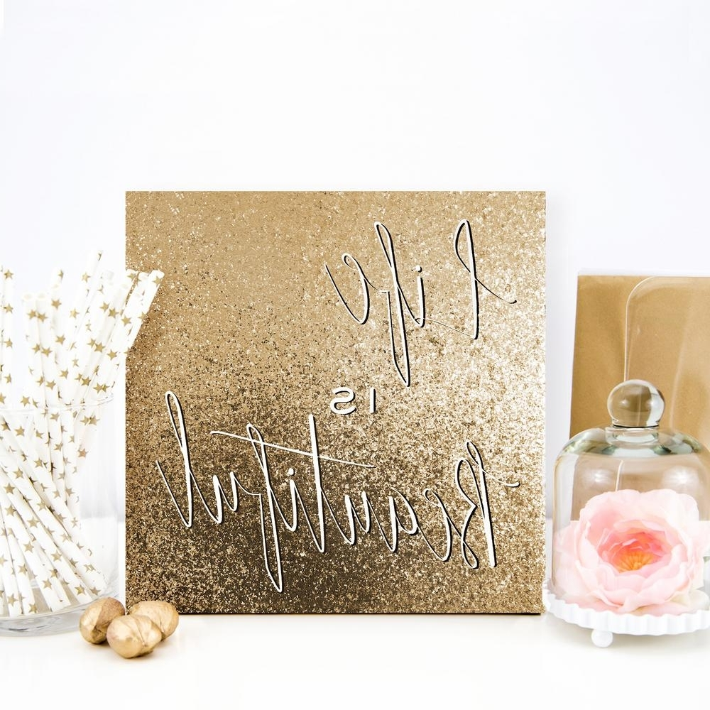 Most Current Glitter Canvas Wall Art Within 16 In. X 16 In (View 9 of 15)