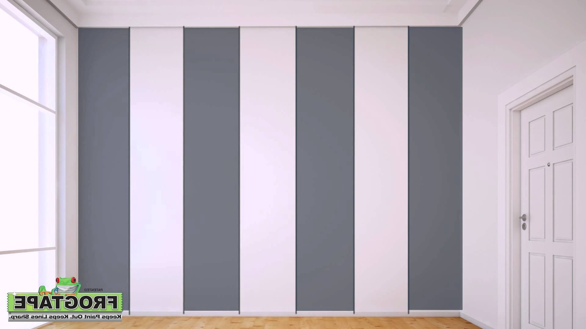 Most Current How To Paint Stripes On A Wall – Youtube Inside Vertical Stripes Wall Accents (View 8 of 15)