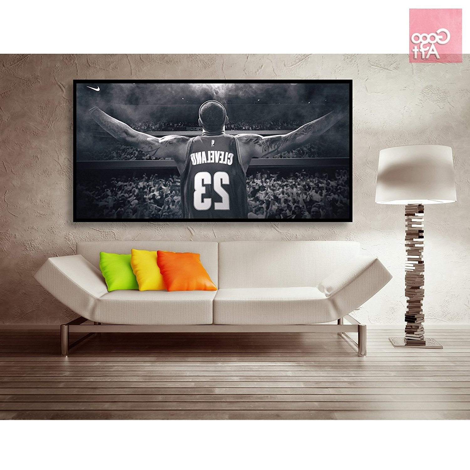 Most Current Michael Jordan Canvas Wall Art For Amazon: Gogoart Roll Canvas Print Wall Art Panorama Photo Big (Gallery 13 of 15)
