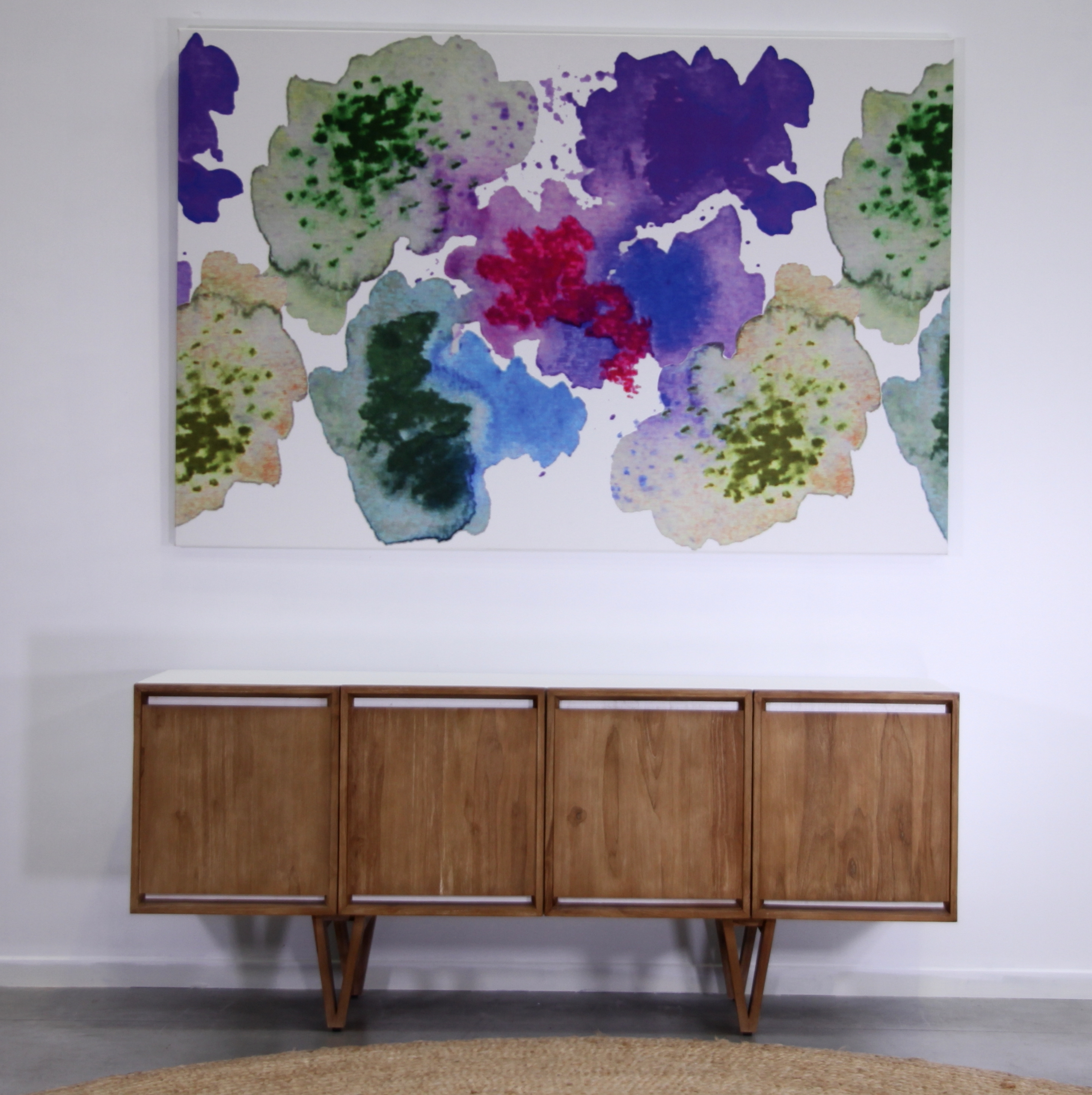 Most Current Scandinavian Fabric Wall Art Regarding Design: Aqualotic, Pinkswedish Designer Louise Videlyck (View 15 of 15)