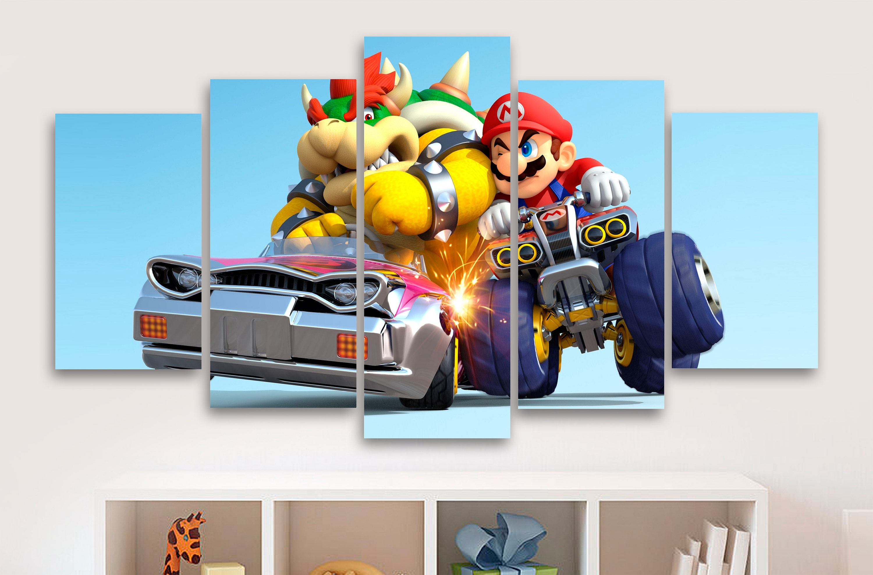 Most Current Super Mario Kart 5 Piece Canvas Gaming Canvas Childrens Within Gaming Canvas Wall Art (View 8 of 15)