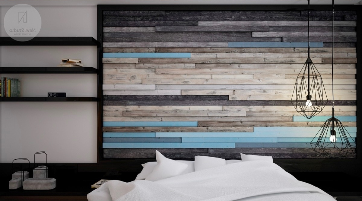 Most Current Unique Wall Accents Within Bedroom Design: Wallpaper Accent Wall Ideas Rock Accent Wall (View 4 of 15)