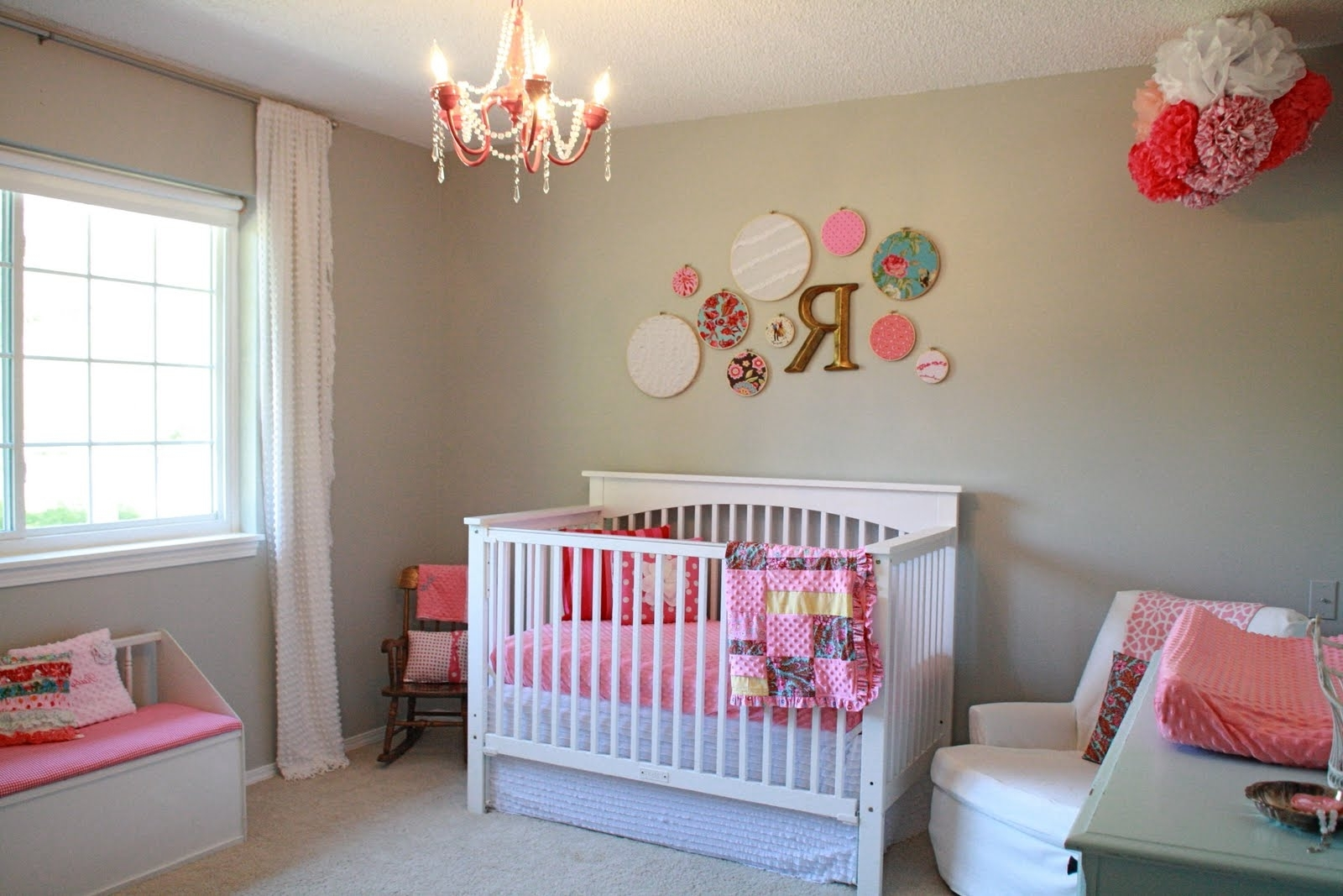 Most Current Vintage Baby Nursery Room Themed Feat Decorative Wall Accessories With Girl Nursery Wall Accents (View 8 of 15)