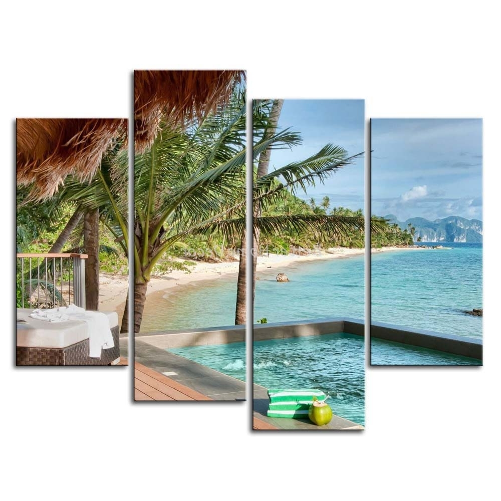 Most Popular 3 Piece Wall Art Painting Palawan Island Resort Philippines Honse For Canvas Wall Art Of Philippines (View 8 of 15)