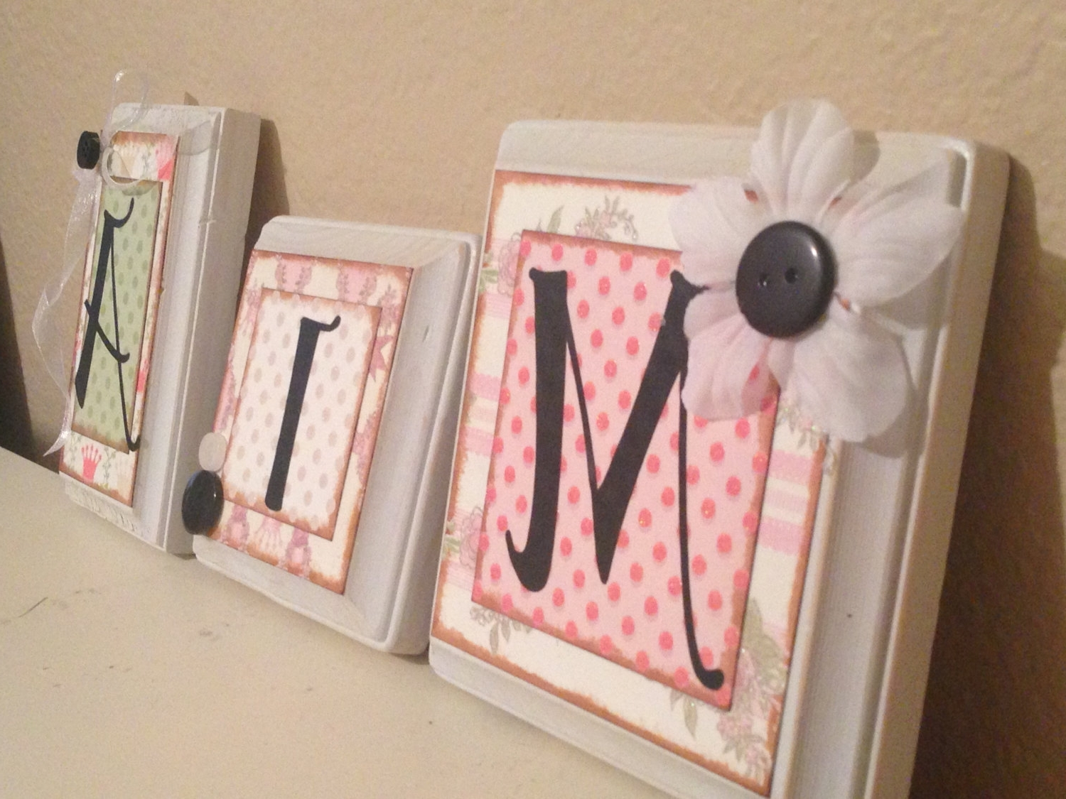 Most Popular Bedroom: Cute Baby Room Name Letters Ideas As Bedroom Decorations Intended For Fabric Wall Art Letters (View 12 of 15)