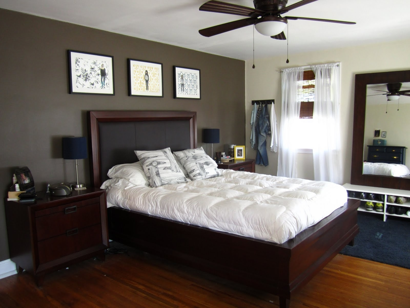 Most Popular Bedroom Design: Focal Wall Black Accent Wall Accent Wall Designs Intended For Wall Accents Behind Bed (Gallery 9 of 15)