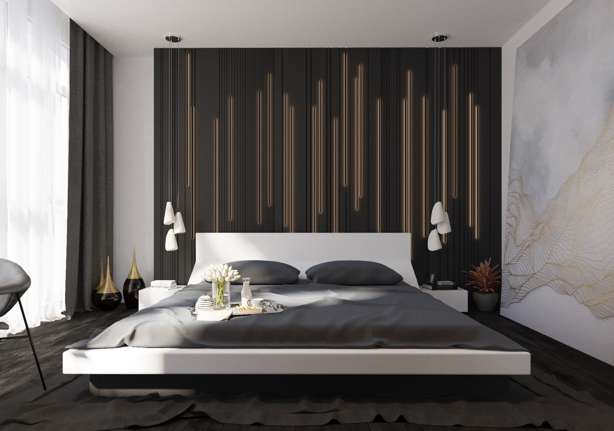 Most Popular Best 25 Bedroom Wall Decorations Ideas On Pinterest Decor For In Wall Accents For Bedroom (View 7 of 15)