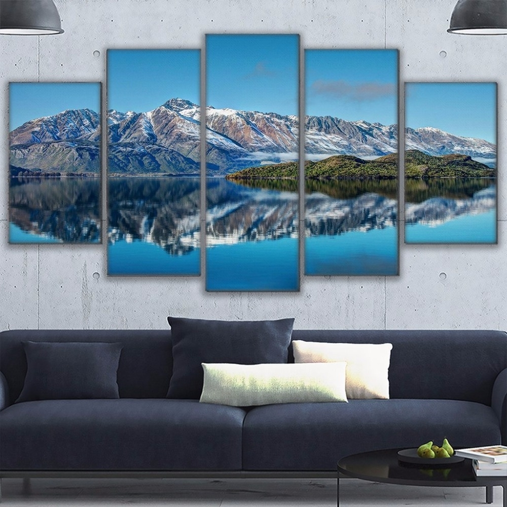 Most Popular Canvas Prints Poster Wall Art Frame Home Decor 5 Piece Queenstown For New Zealand Canvas Wall Art (View 5 of 15)