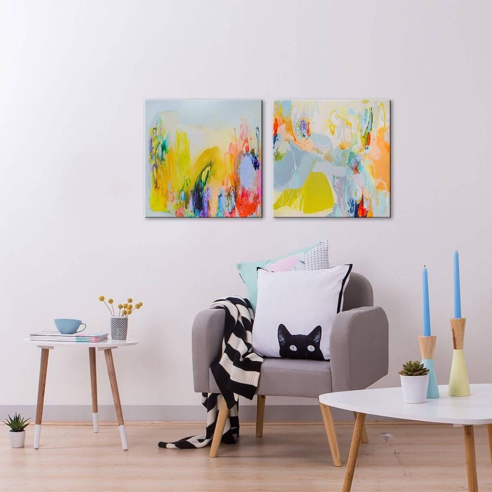 Most Popular Canvas Wall Art Pairs Intended For Brain Freeze (View 5 of 15)