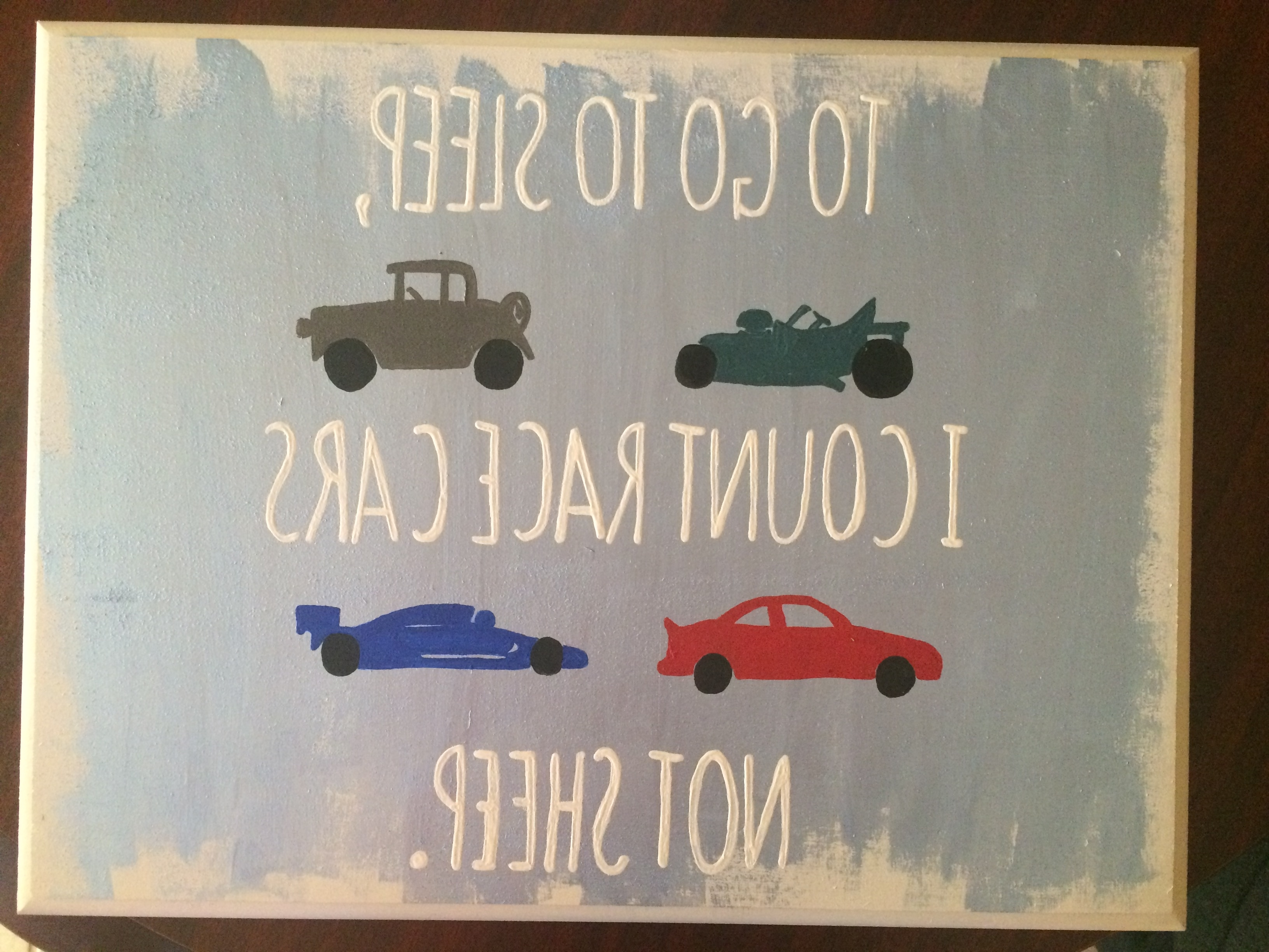 Most Popular Cars Theme Canvas Wall Art For To Go To Sleep I Count Race Cars Not Sheep (View 11 of 15)