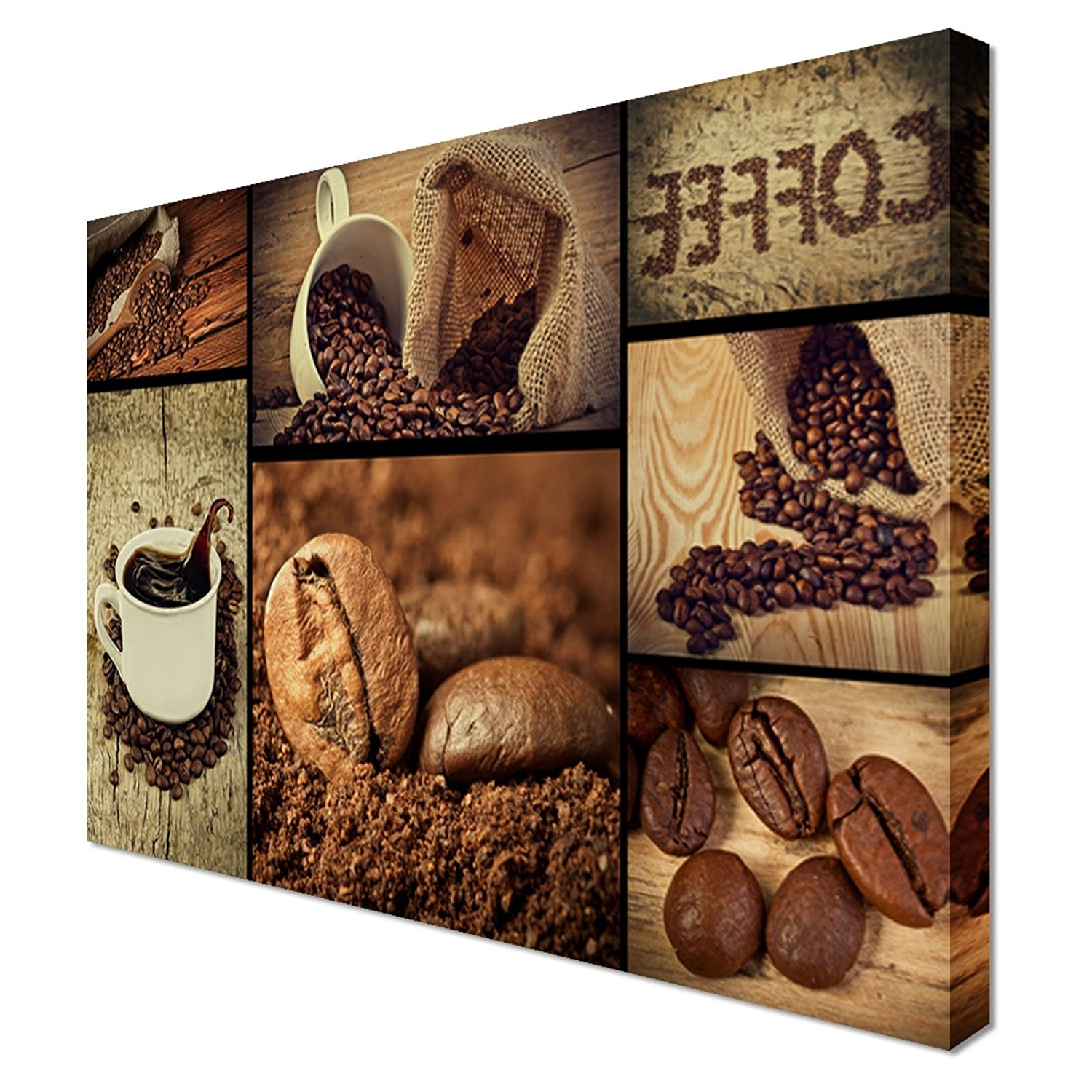 Most Popular Coffee Shop Food Kitchen Canvas Art Cheap Wall Art Print – Home With Coffee Canvas Wall Art (View 7 of 15)