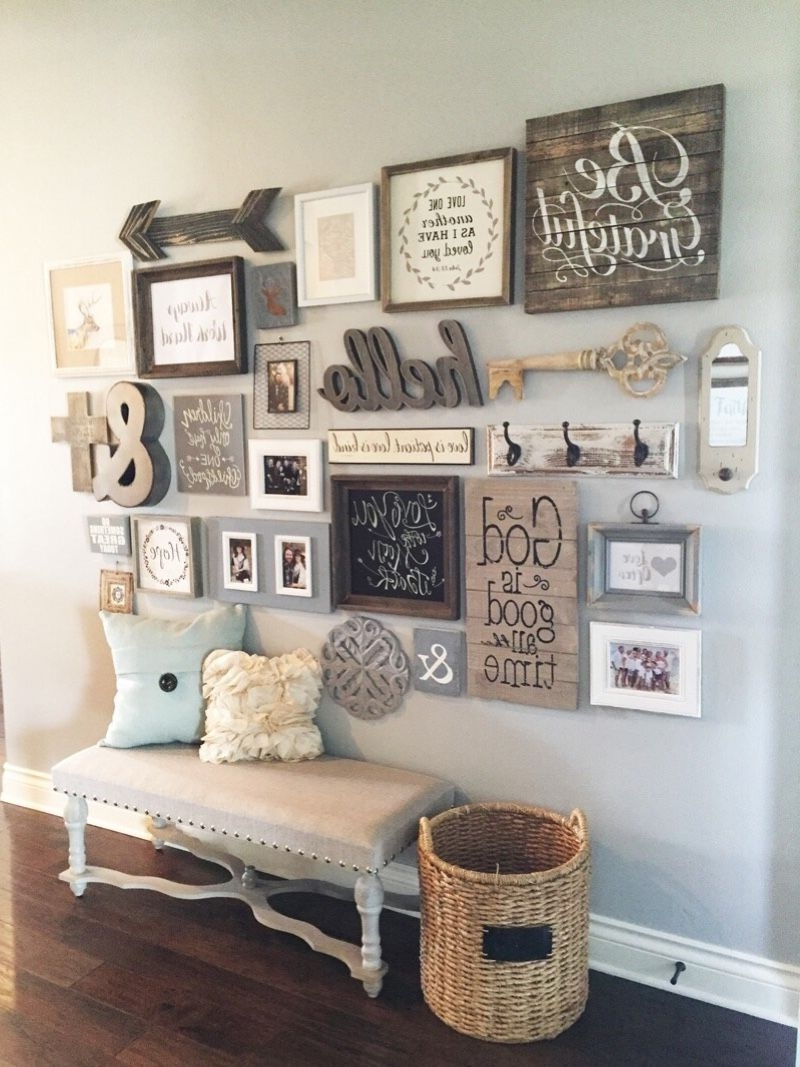 Most Popular Entryway Wall Accents With 27 Welcoming Rustic Entryway Decorating Ideas That Every Guest (View 7 of 15)