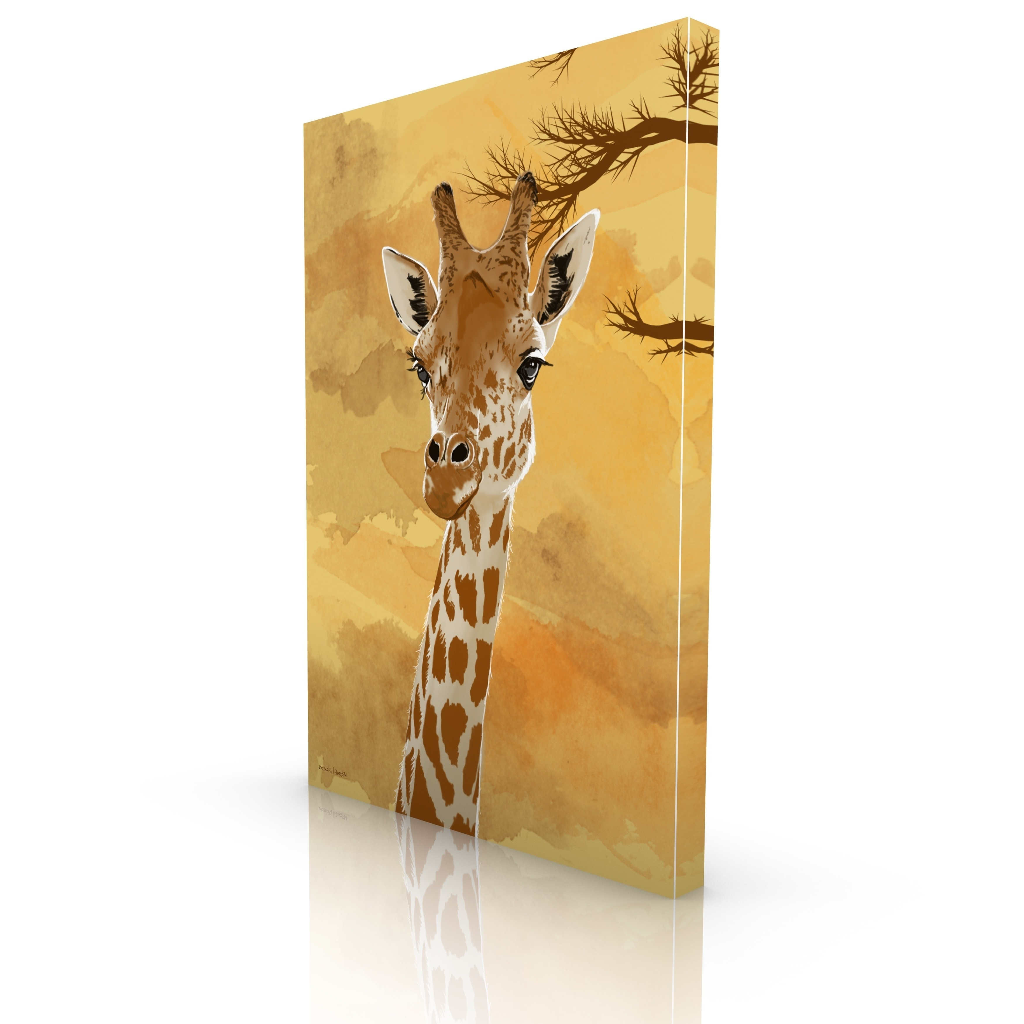 Most Popular Giraffe Canvas Wall Art Pertaining To Maxwell Dickson 'giraffe' Canvas Wall Art – Free Shipping Today (View 9 of 15)