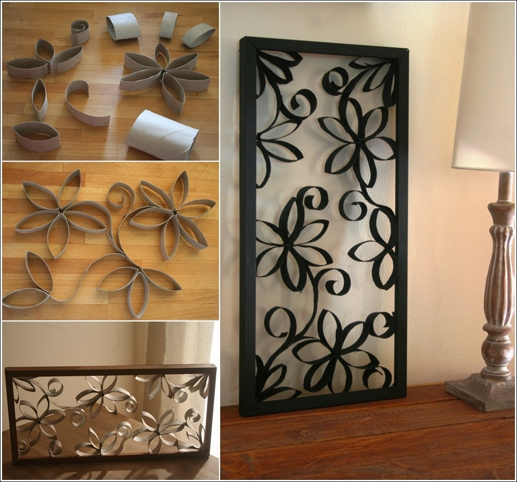 Most Popular Iron Fabric Wall Art Intended For Art: Diy Flower Wall Art (View 10 of 15)